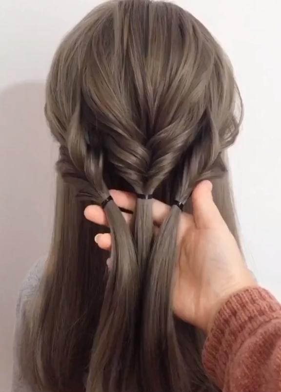 peinados fáciles y rápidos trenzas para cabello medio largo espalda fácil mujeres