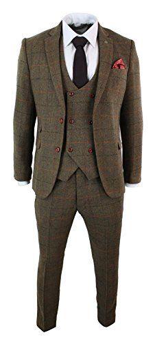 UMISS Mens Slim Fit 3 Piece Suit Jacket Tux Vest /& Pants