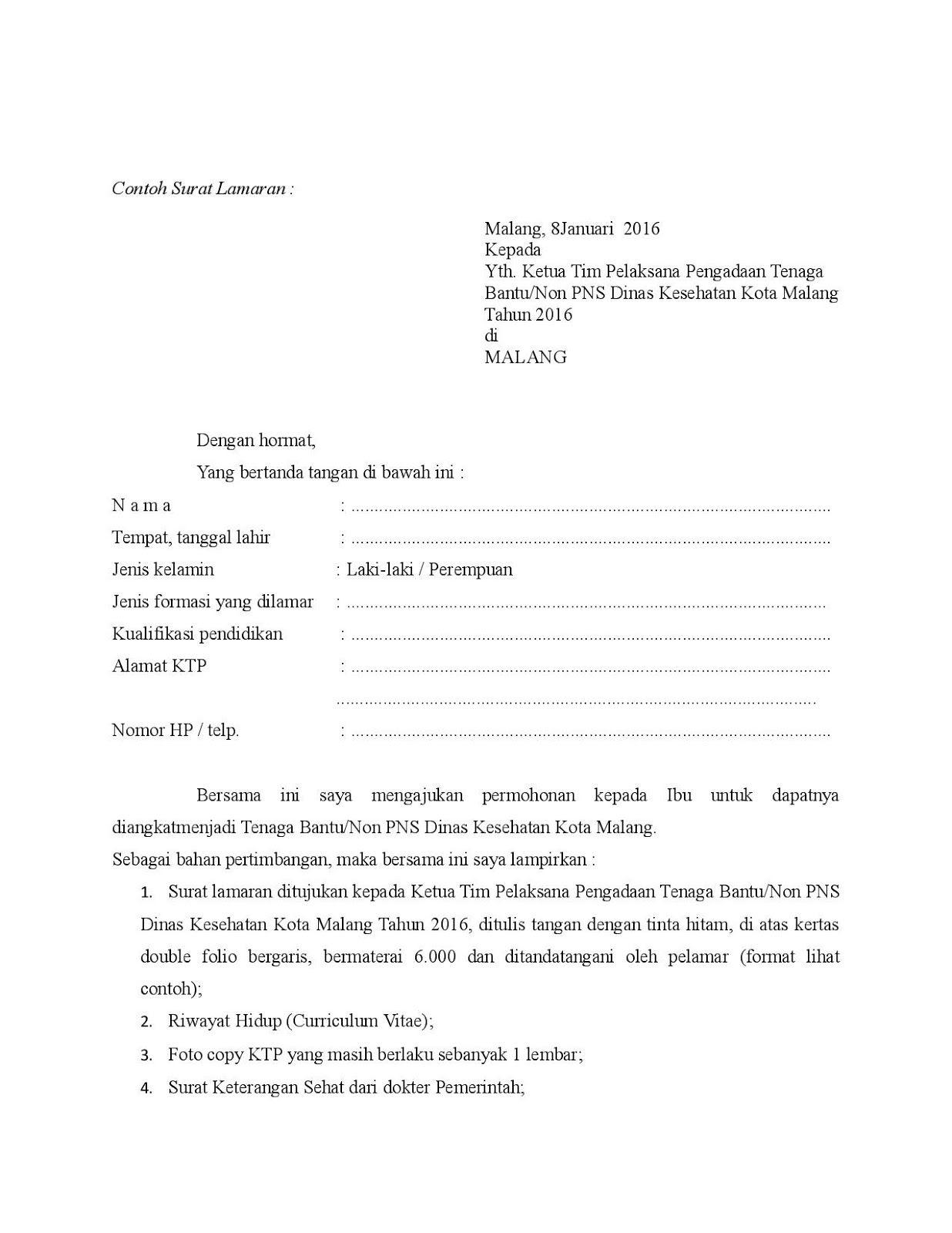 Contoh Surat Pernyataan Dengan Materai