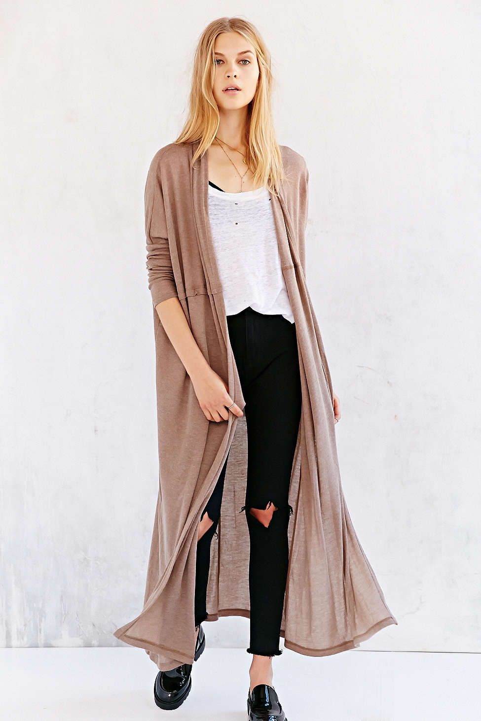 Silence   Noise Layer-It-On Duster Cardigan Sweater - Urban ...