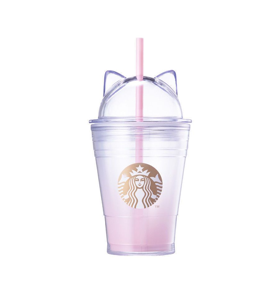 2018 Limited Valentines Cat Lid ColdCup Tumbler 355ml
