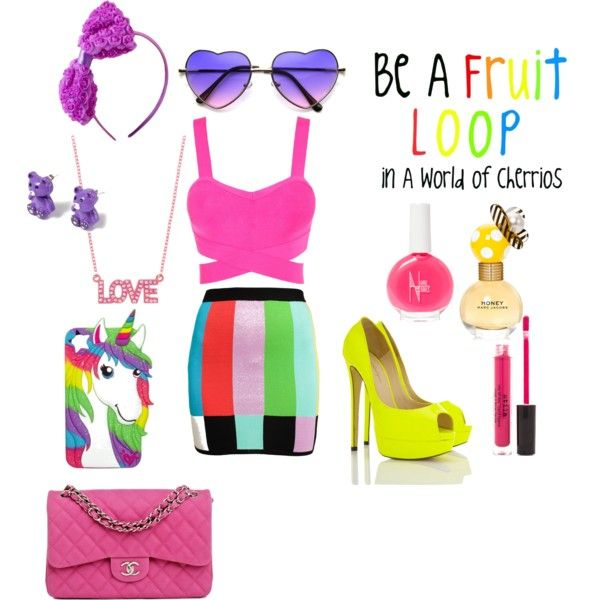 """Be a Fruit Loop In a world of Cheerios"" by grace-buerklin on Polyvore"