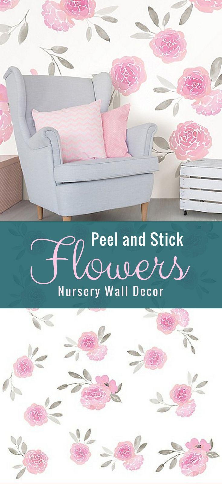 Peel and stick wall flowers for nursery baby room nursery decor