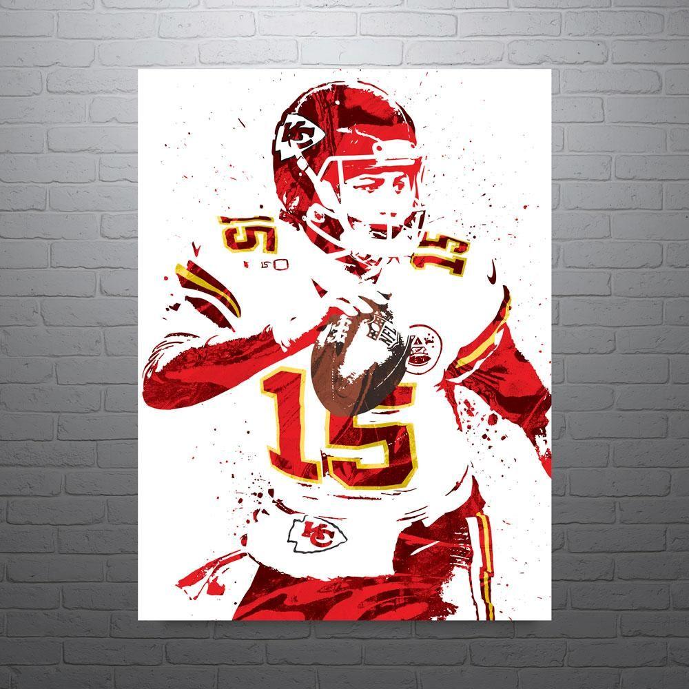 Pat Mahomes Kansas City Chiefs Poster in 2019 Kansas