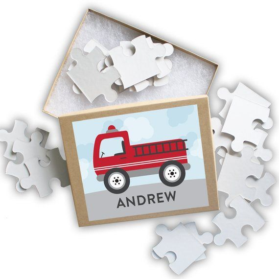 fire truck puzzle personalized puzzle for kids jigsaw puzzle