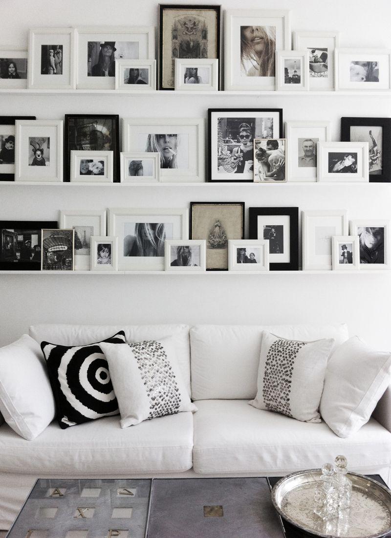 Gallerywallannikavonholdt gallery wall using shelves from ikea