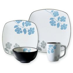 Corelle Hearthstone Floral Serenity Square 16-piece Dinnerware Set - Overstock™ Shopping - Great Deals on Corelle Casual Dinnerware  sc 1 st  Pinterest & Corelle Hearthstone Floral Serenity Square 16-piece Dinnerware Set ...