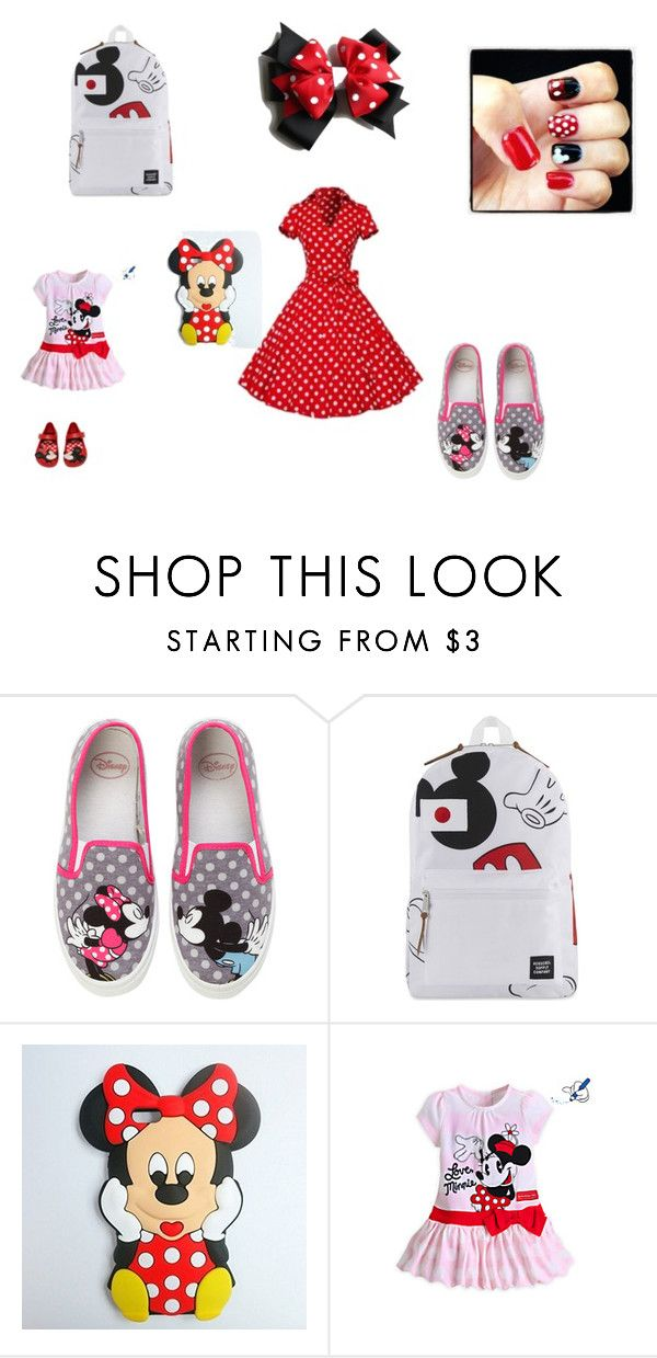 """""""Love is easy day at disney"""" by oppile ❤ liked on Polyvore featuring Disney, Herschel Supply Co. and Melissa"""