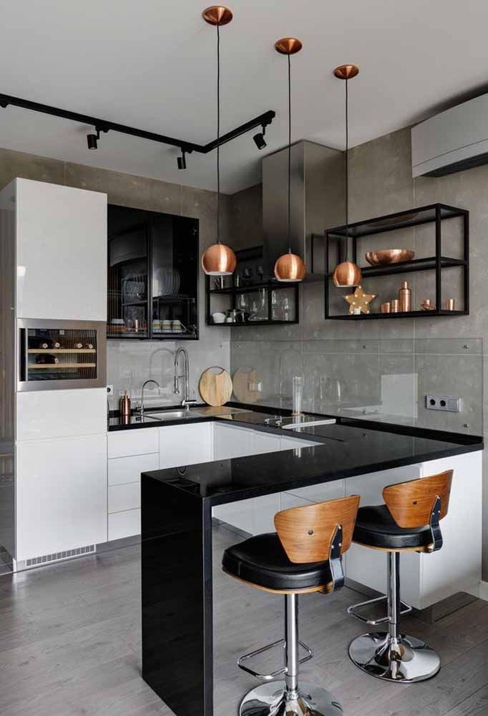 45 Stunning Apartment Kitchen Decorating Ideas With Images Kitchen Decor Apartment Modern Kitchen Interiors Kitchen Interior Design Modern