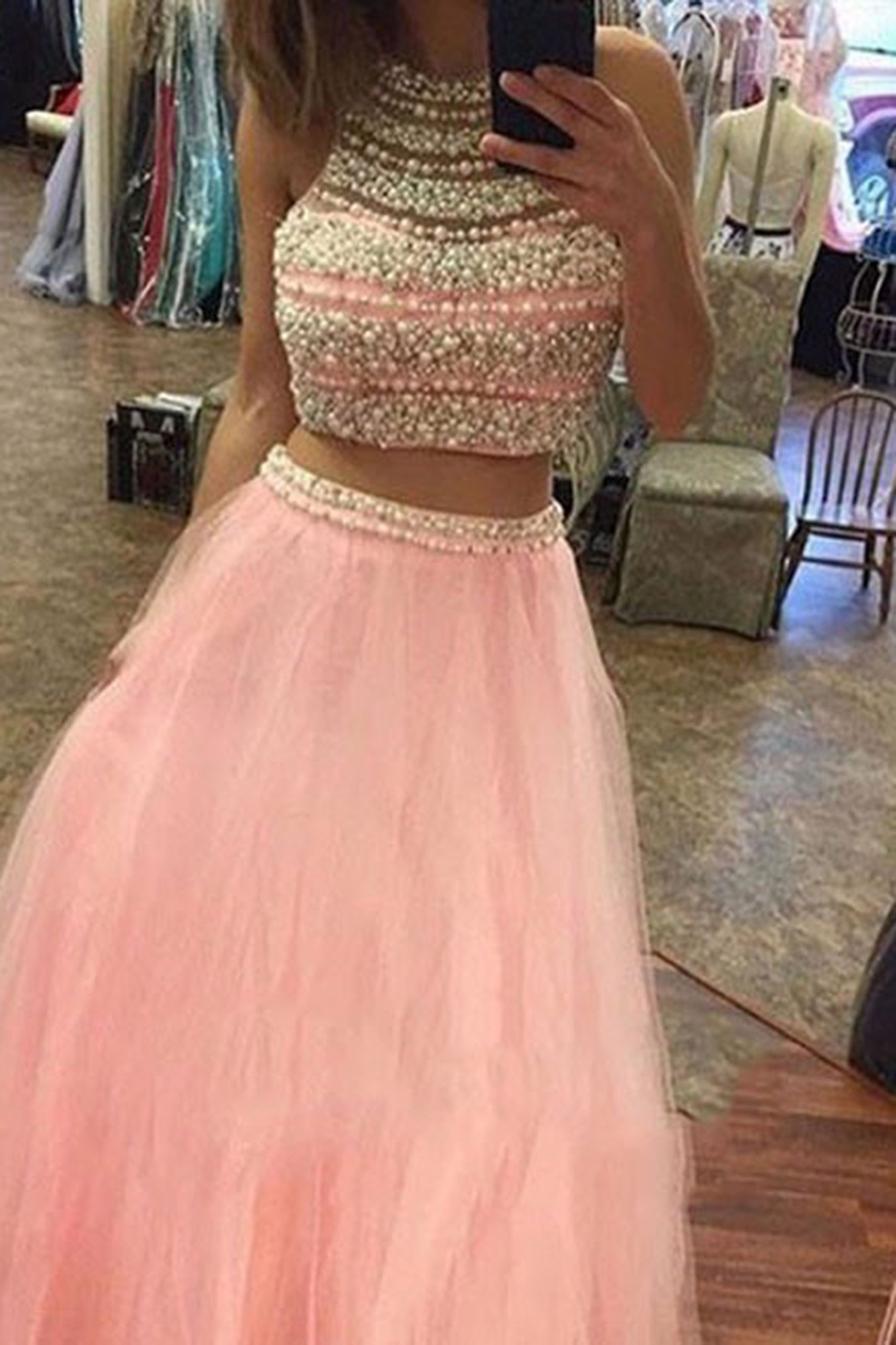Two - Piece Prom Dresses | LOOKBOOK - YouTube