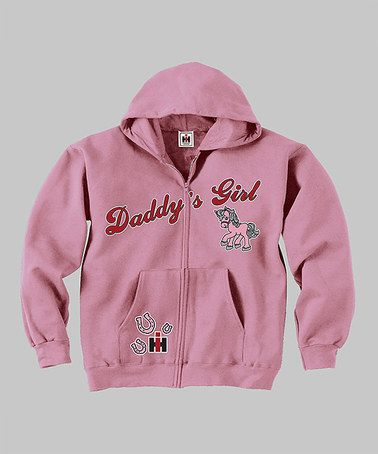 Take A Look At This Pink Daddy S Little Girl Zip Up Hoodie Infant By International Harvester On Zulily Today Hoodies Country Casual Daddys Little Girls