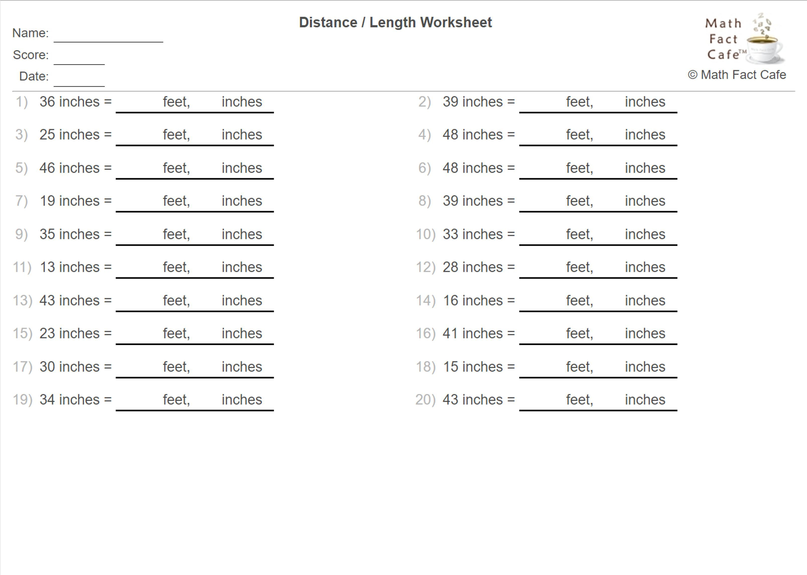 Give this new LENGTH conversion worksheet a try. We've ...