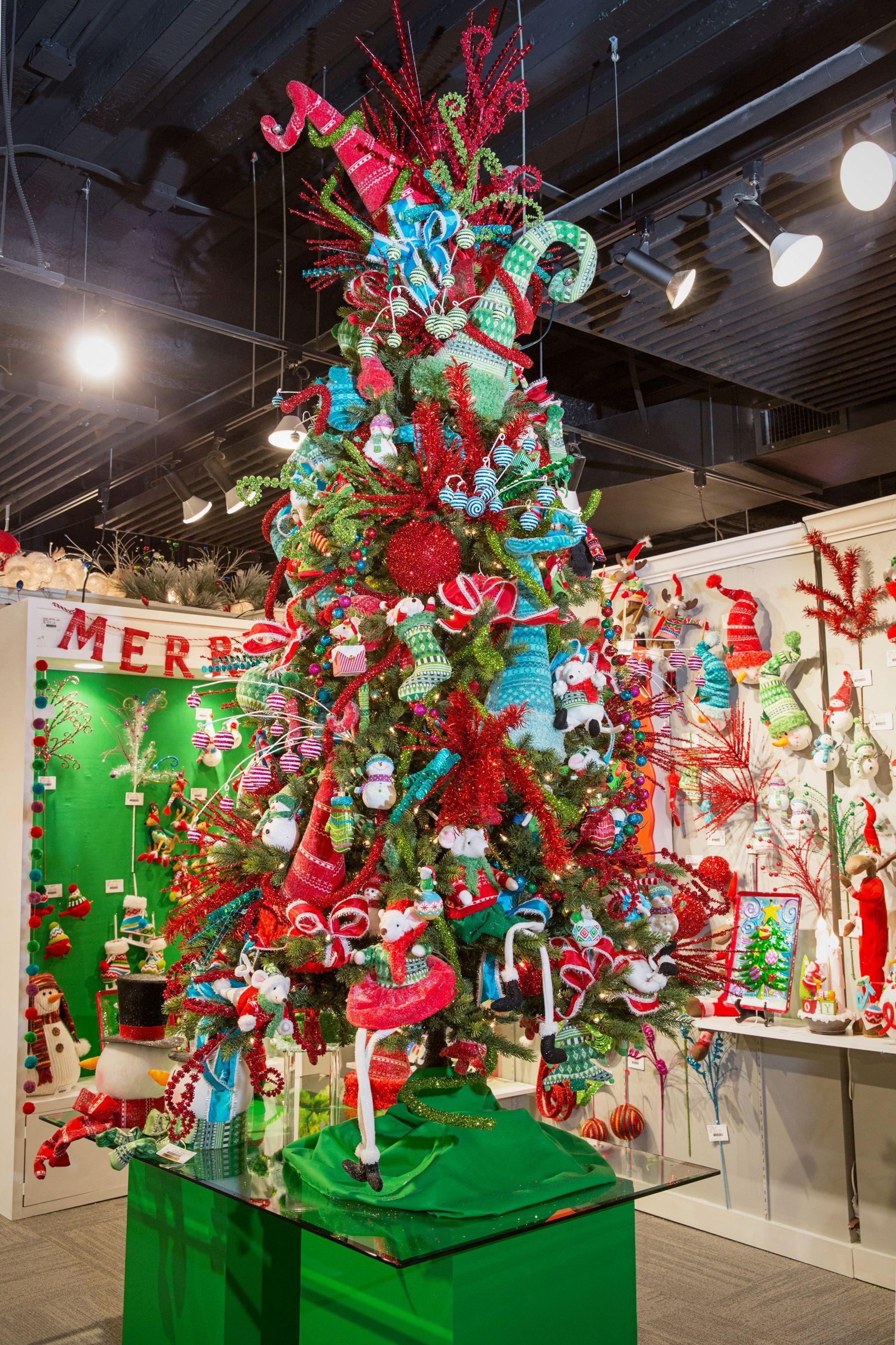 Tinsel Tangle Luxury Christmas Tree Colorful Christmas Tree Christmas Tree Decorations