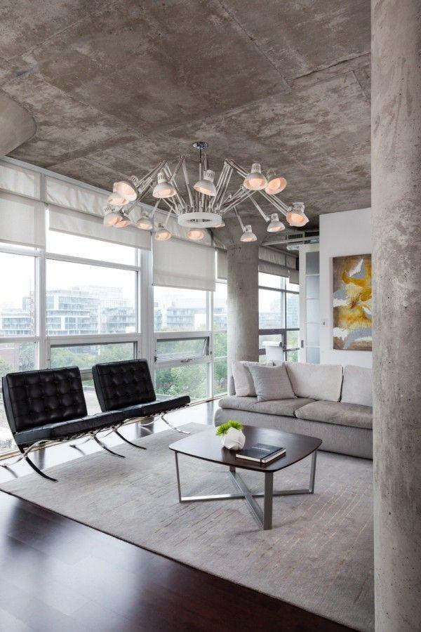 Simple Design Vs Super Design Living Room Loft Concrete Interiors Loft Living