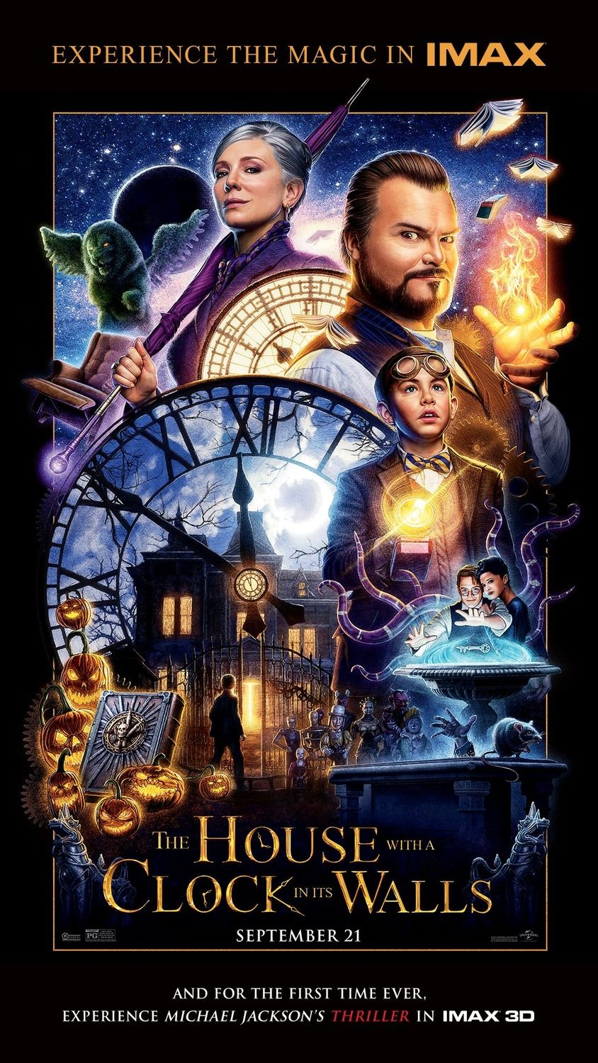 The House With A Clock In Its Walls Imax With Michael Jackson S Thriller In 3d Fantasy Movies Animated Movies New Movies