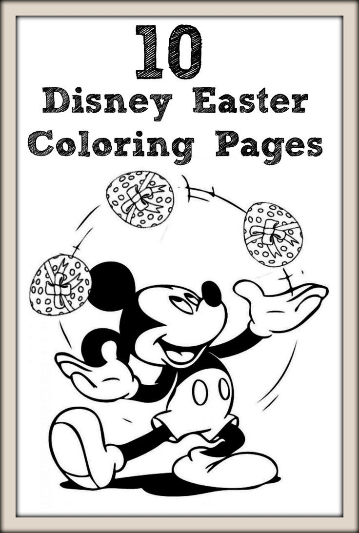 10 Disney Easter Coloring Pages