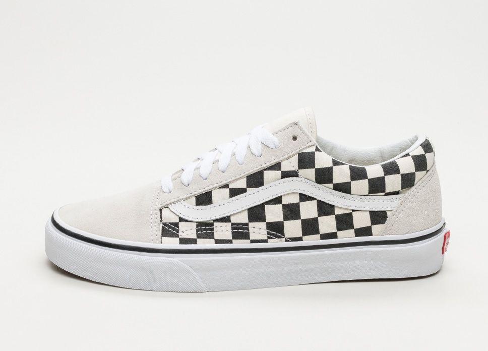 Vans Old Skool Checkerboard White Black Lpu Sneaker Sneakers Black Sneakers Vans Old Skool Vans