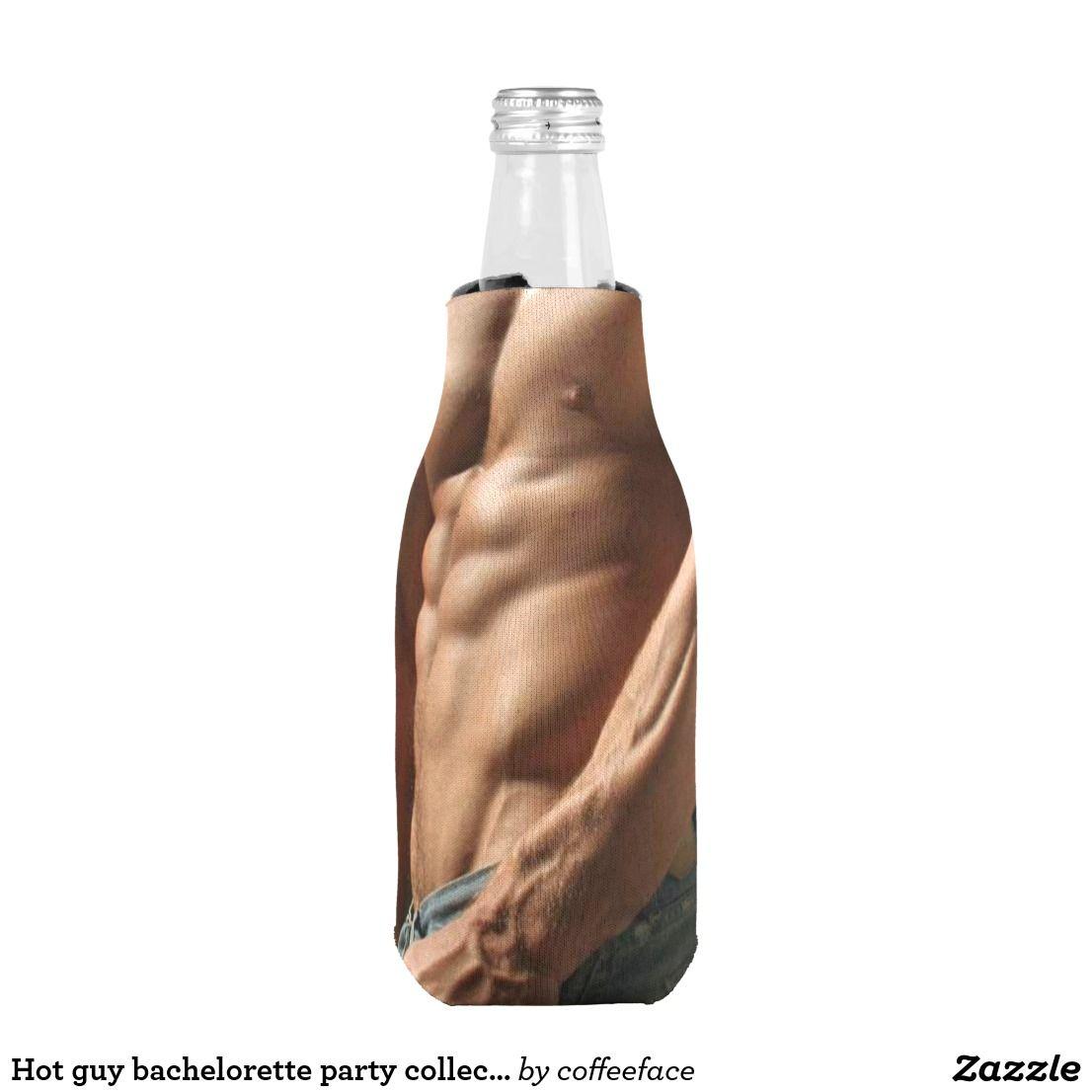 Hot guy bachelorette party collection bottle cooler