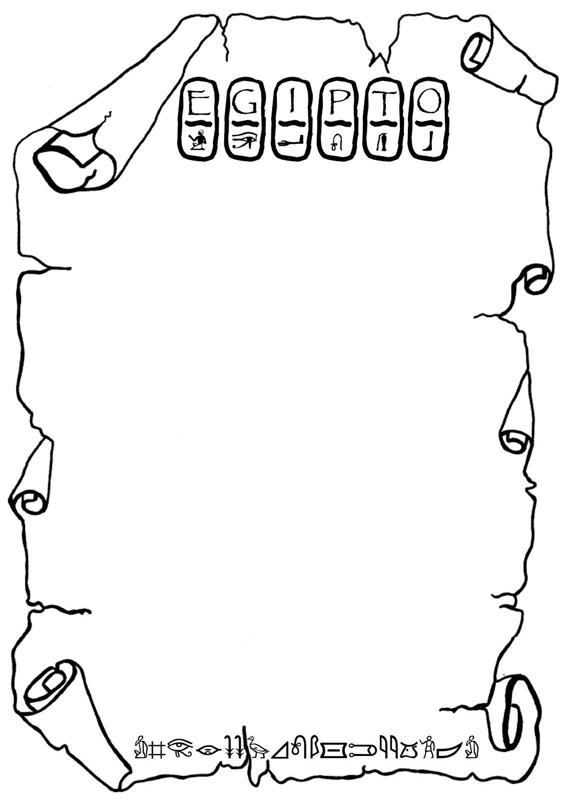 Ficha, plantilla, marco, para escribir. Proyecto Egipto … | Pinteres…