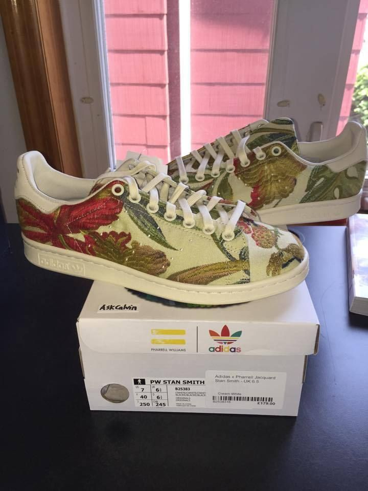 finest selection ba7e8 f4d52 Pharrell Williams x Adidas Originals Stan Smith Jacquard New Size 7 US  Cream PW