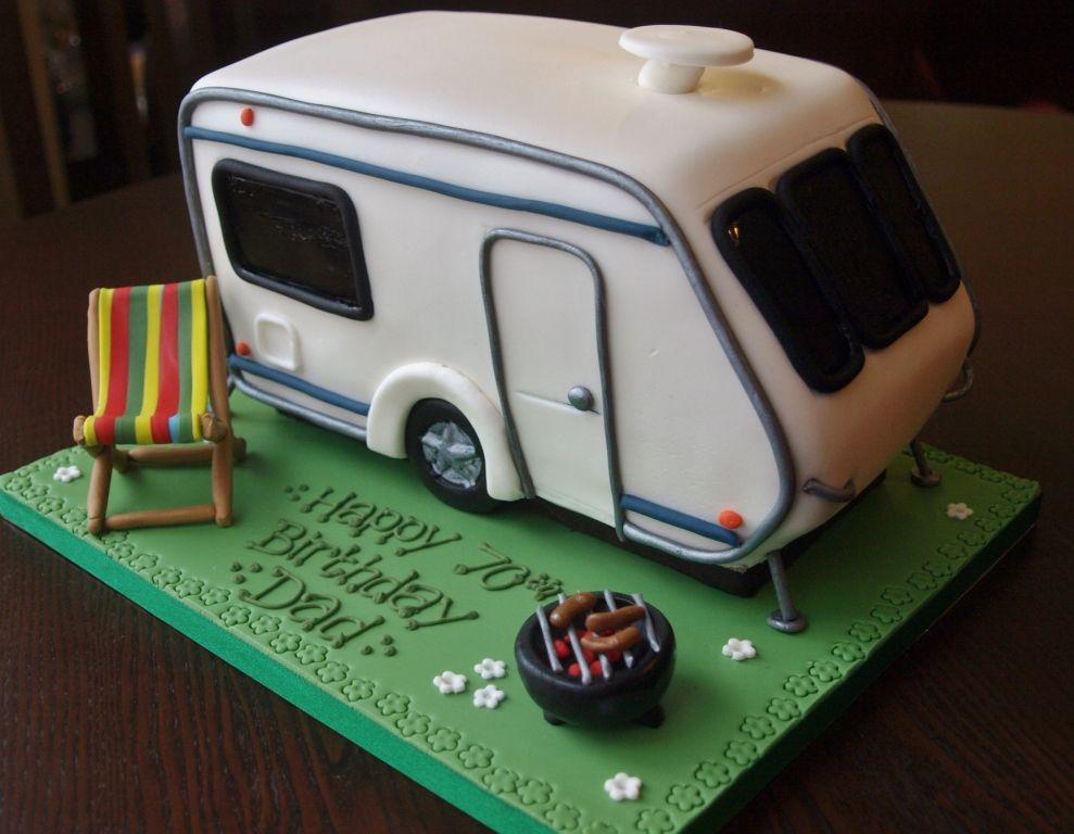 Caravan Birthday Cake I Love That Cake Co Bedford