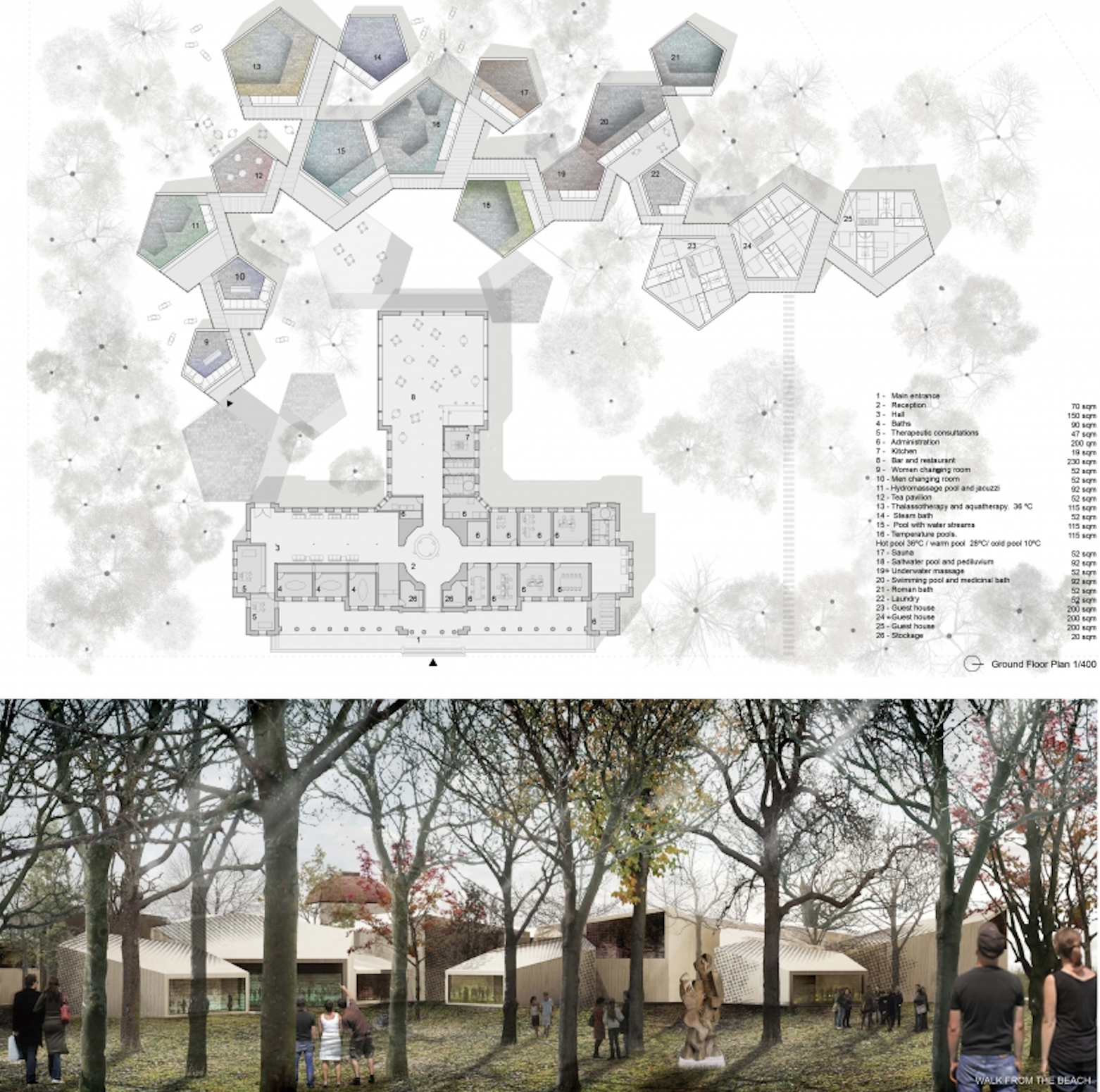 """Architecture House Competition architecture competition """"rebirth of the bath house"""" honourable"""
