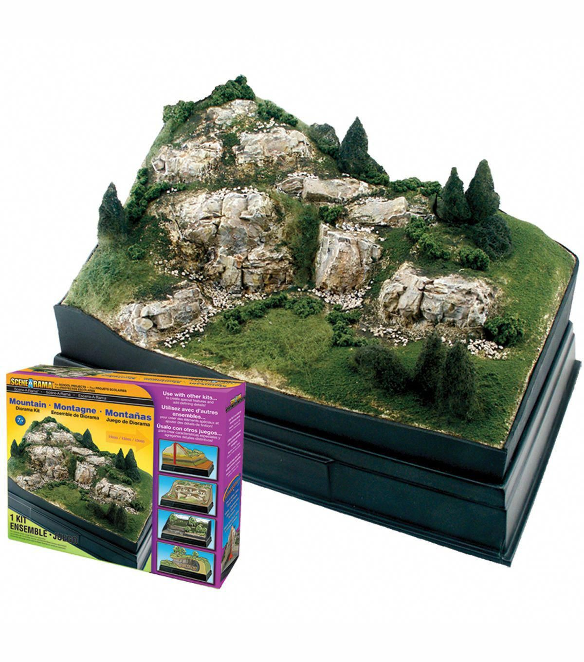Diorama Kit Mountain modeltrainbuildings (With images