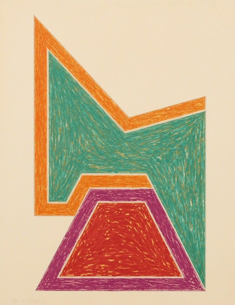 Frank stella wolfeboro from the eccentric polygons for Frank stella peinture
