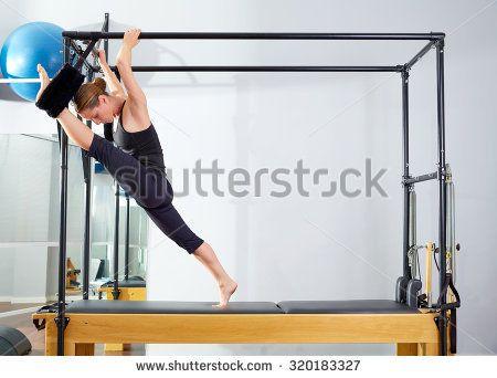 Pilates Woman Cadillac Split Legs Stretch Stock Photo 309156704 ...