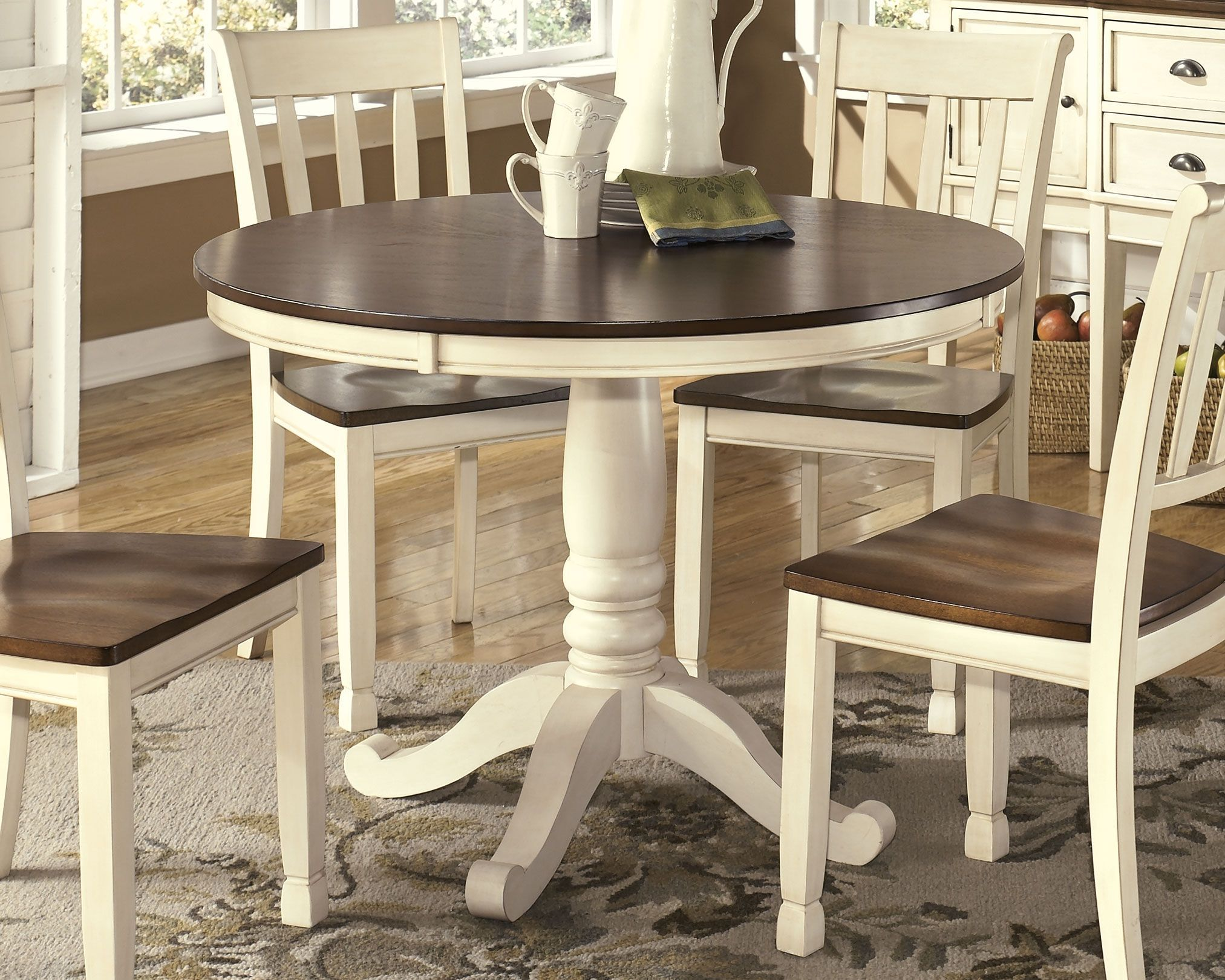 Round Dining Room, Whitesburg Dining Room Chair