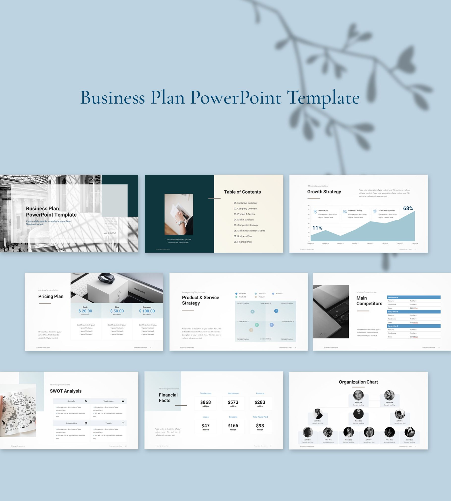 Business Plan Powerpoint Template 2019 Simple Powerpoint Template Business Presentation Templates Powerpoint Templates Business Planning