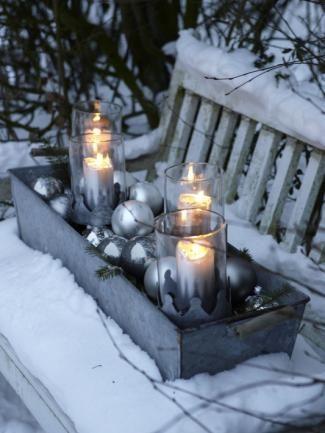 festliche kerzendeko weihnachten weihnachtsdekoration. Black Bedroom Furniture Sets. Home Design Ideas