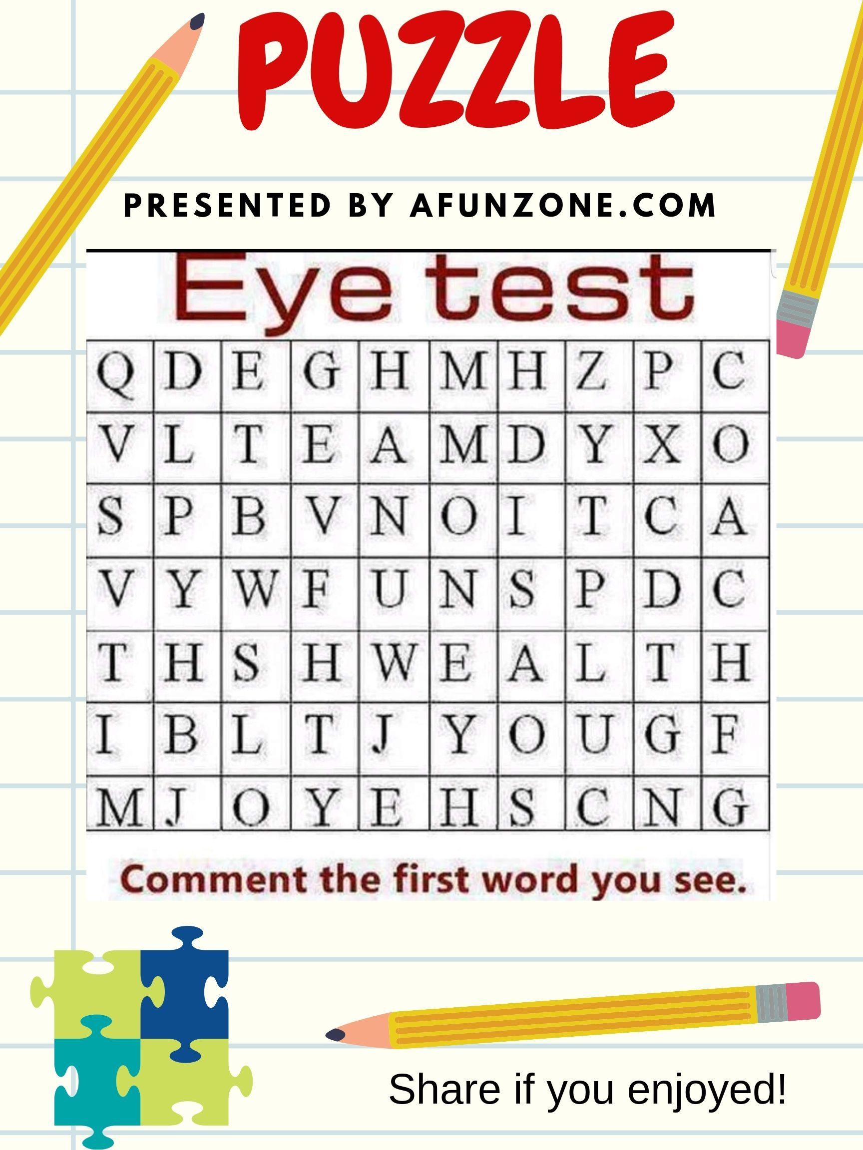 Post, Pin and Share. eye wordsearch words puzzle game