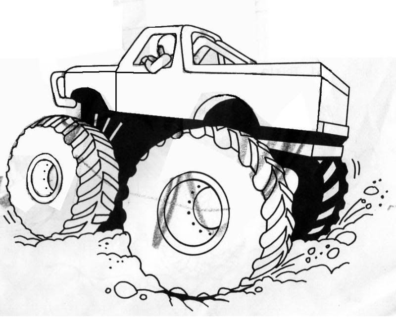 Grave digger monster truck coloring pages birthday ideas for Grave digger monster truck coloring pages