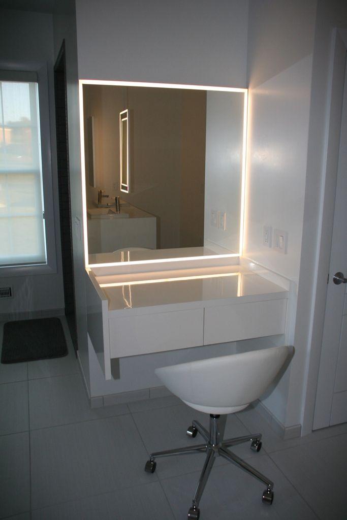 Bathroom Mirror With Led Lightning Diy Vanity Mirror