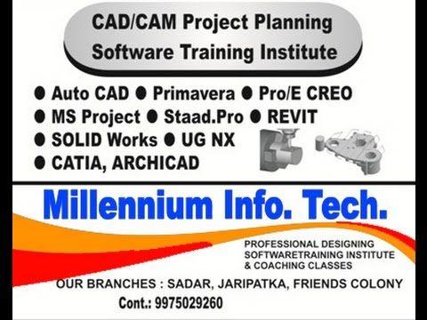 Autocad Training institute in nagpur call 9975029260 by Millennium somet...