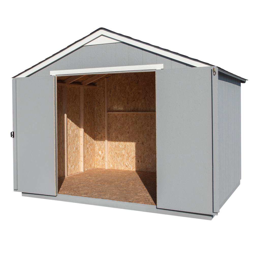 Handy Home Products Monarch 10 Ft X 8 Ft Wood Storage Shed 18380 5 The Home Depot Wood Storage Sheds Wood Storage Shed Storage
