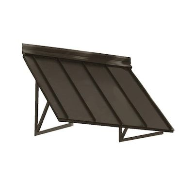 Awntech Houstonian 44 In Wide X 24 In Projection Bronze Solid Vertical Patio Fixed Awning Lowes Com In 2020 Metal Awning Standing Seam Door Awnings
