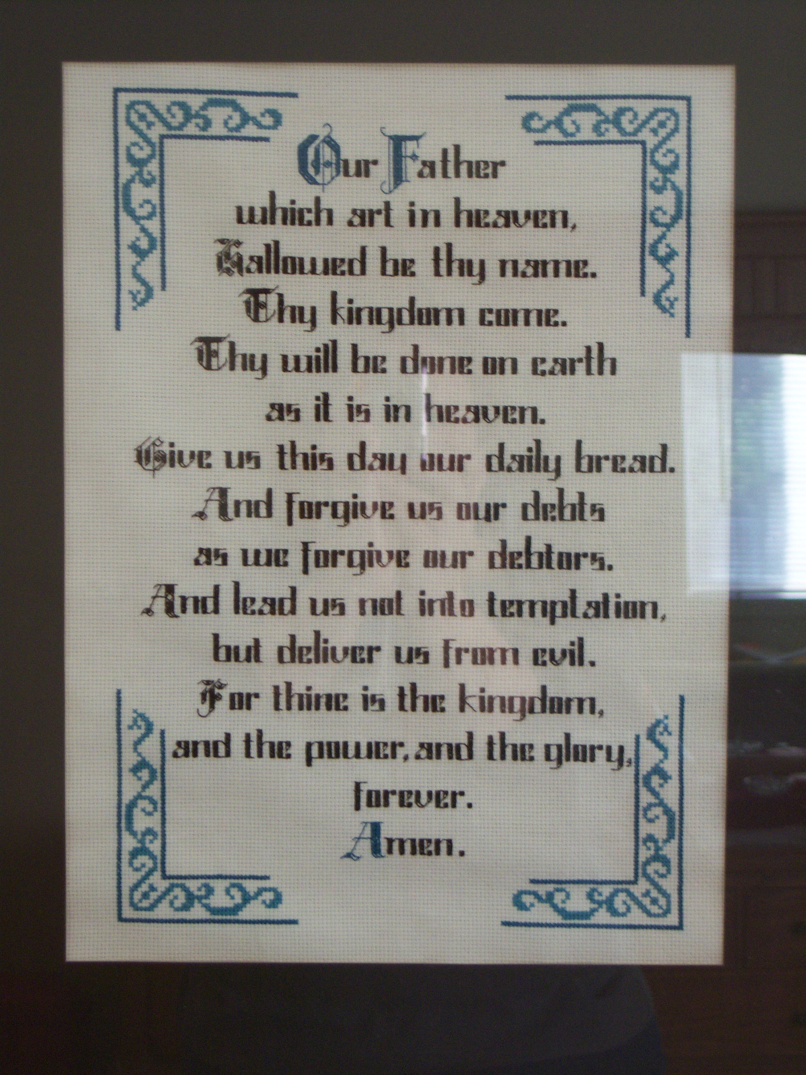 The Lord's Prayer - counted cross stitch | I've made this