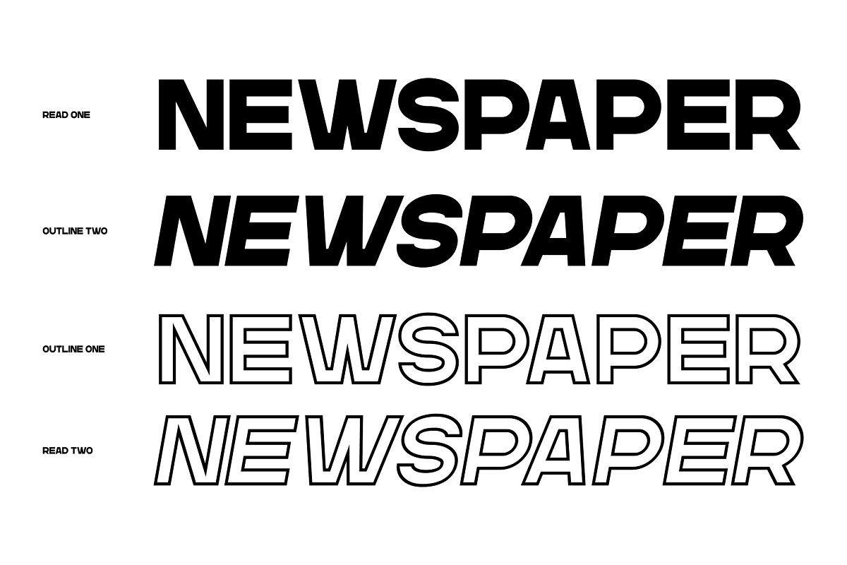 Gr Read Headline Typeface In 2020 Outline Fonts Typeface Best Sans Serif Fonts