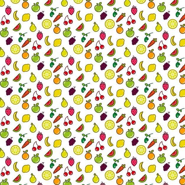 Fruit pattern Free Vector