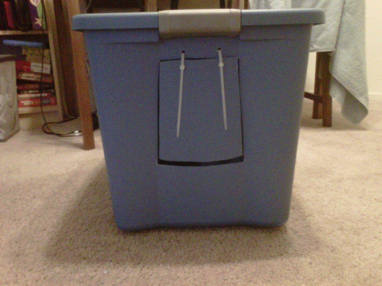 home made cat litter box ) Cat litter, Litter box