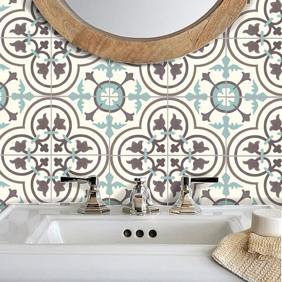 Tile Stickers Vinyl Decal WATERPROOF REMOVABLE for kitchen bath WAL