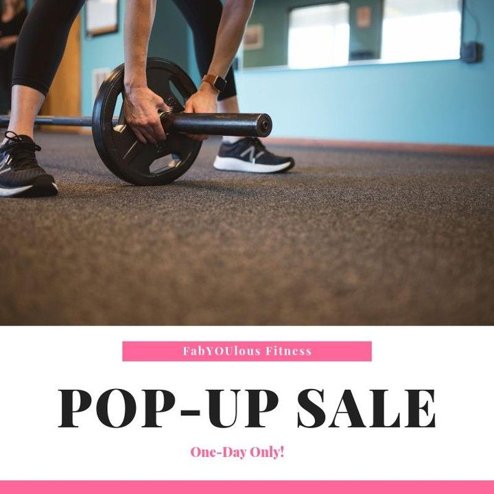 Pop-Up Sale Day is here! Sign-up or purchase a package today and get 15% off of Studio Group Fitness...