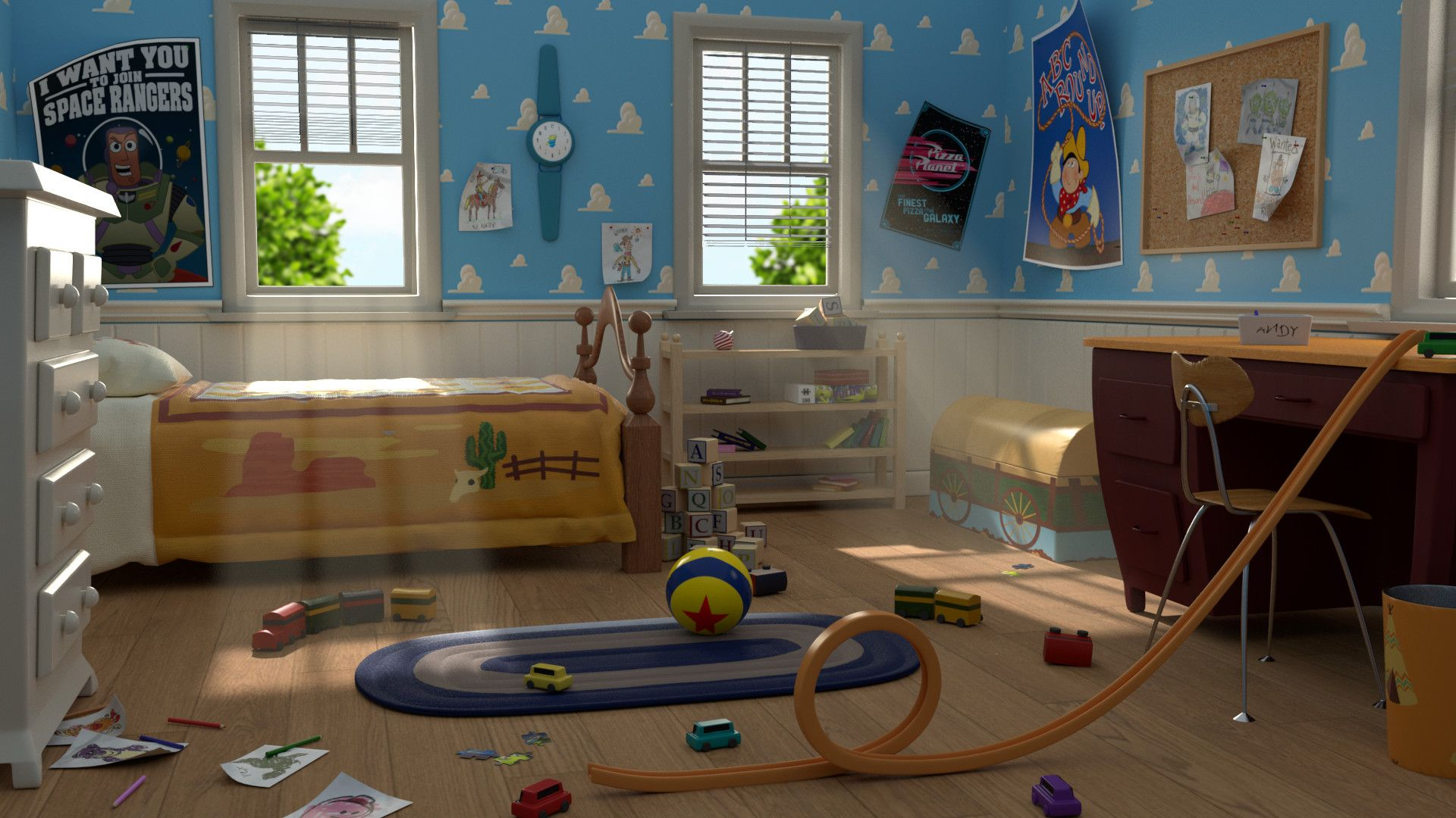 Artstation Andy S Room Toy Story Ann Sophie D Hollander Toy Story Room Andys Room Toy Story Andys Room