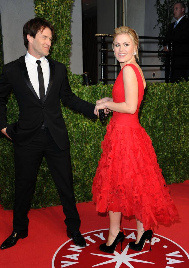 Stephen Moyer And Anna Paquin Vanity Fair Oscar After Party