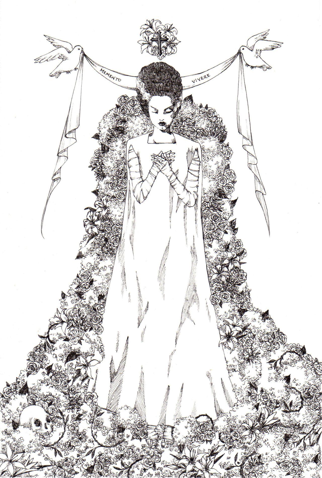Memento Vivere - The Bride at Hyaena Gallery - katphilbin