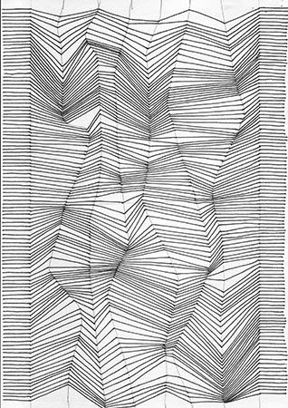 drawing with lines optical illusion tutorial designs and drawing pinterest illusions. Black Bedroom Furniture Sets. Home Design Ideas