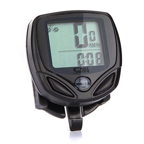 """Características:  SPD: Velocidad de la corriente  ODO: ODOMETER(0.001-99999KM/M)  DST: Distancia de viaje  MX: Velocidad máxima  AVS: Velocidad media  TM: tiempo transcurrido  CLK: Reloj (12H / 24H)  EXPLORACIÓN  """"+"""" """"-"""" COMPAPATOR  Ajuste velocidad SCALE(KM/H.M/H)  AJ... http://gimnasioynutricion.com/tienda/bicicletas/elipticas/mamaison007-bicicleta-inalambrico-impermeable-bicicletas-computadora-led-odometro-velocimetro/"""