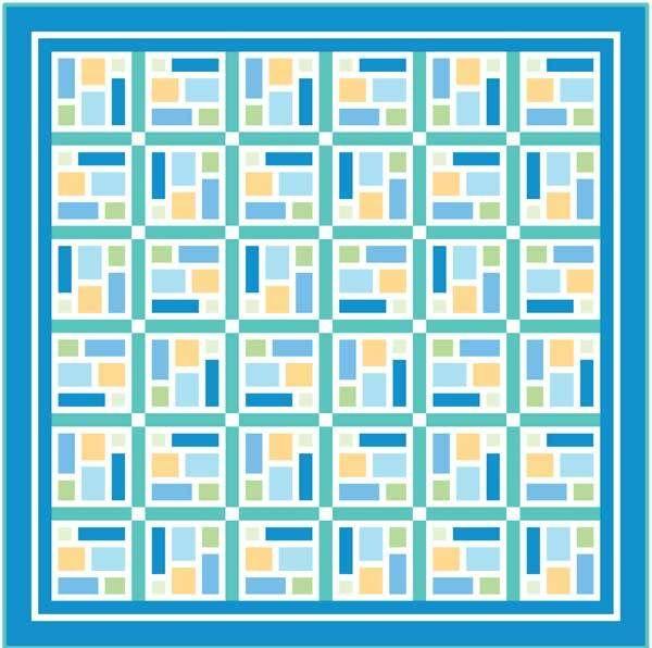 SEA GLASS: FREE queen size quilt pattern Designed by KATE COLLERAN ... : queen size quilt patterns free - Adamdwight.com